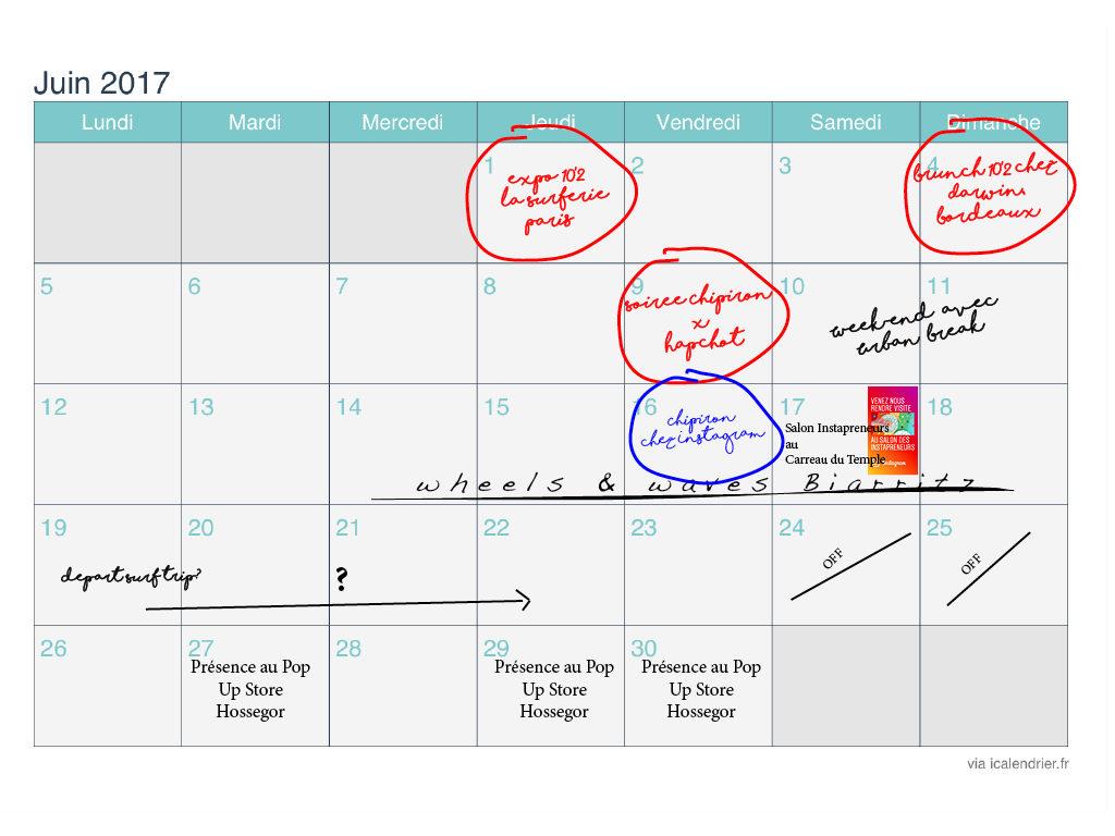 agenda juin Chipiron Surfboards Hossegor
