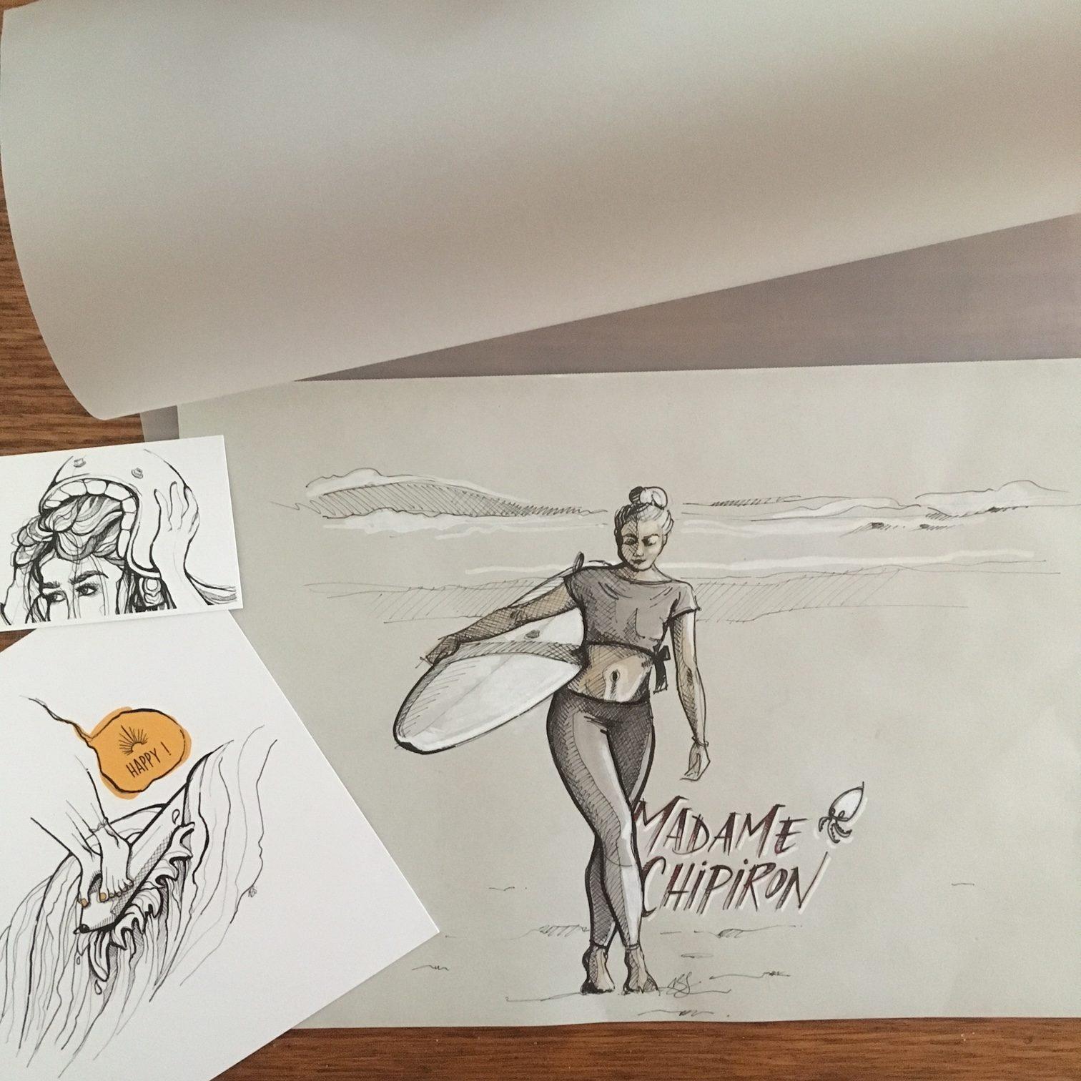 Drawing Madame Chipiron