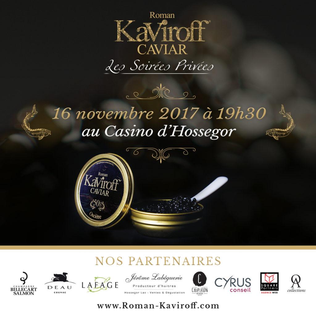 Soirée Caviar Kaviroff avec Chipiron